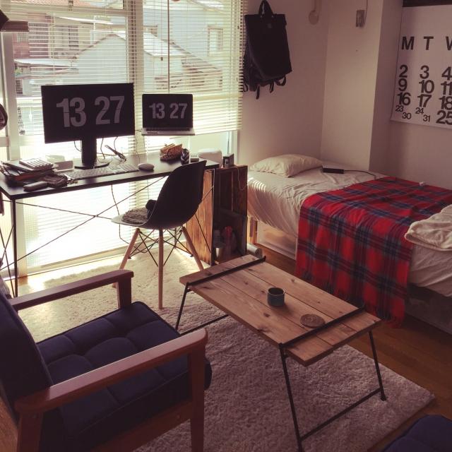 ワンルームこそアイデア勝負!キラリと光る☆レイアウト術 | RoomClip mag | 暮らしとインテリアのwebマガジン