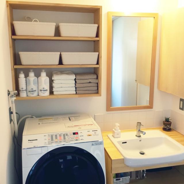 洗面所がすっきりする収納で、心地よい毎日を | RoomClip mag | 暮らしとインテリアのwebマガジン