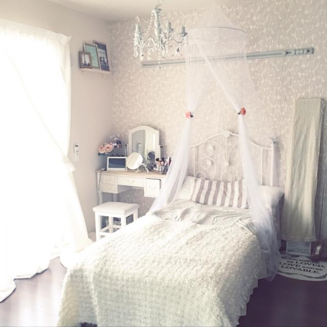 まるでおとぎ話♡姫色ホワイトルームの作り方 | RoomClip mag | 暮らしとインテリアのwebマガジン
