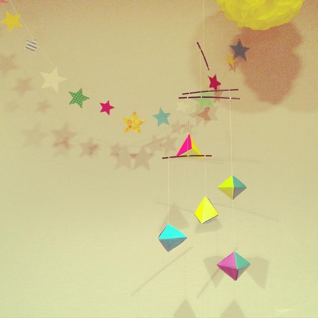 クリスマス 折り紙 壁飾り手作り折り紙 : roomclip.jp