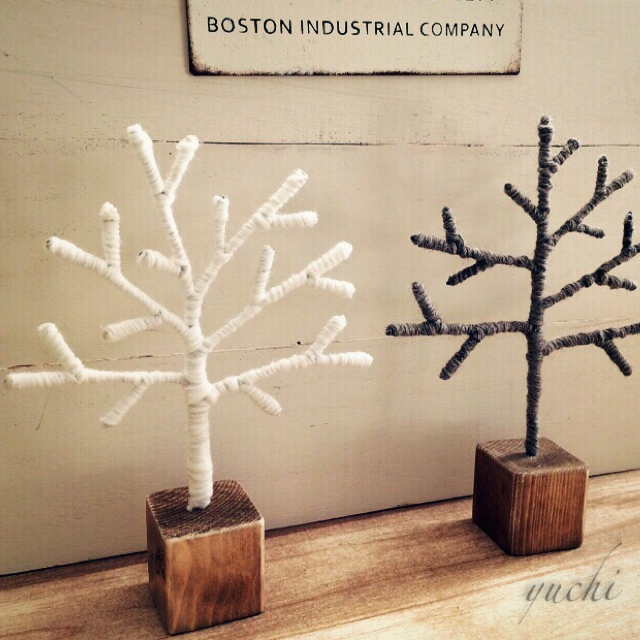 ワイヤークラフトでつくるツリー