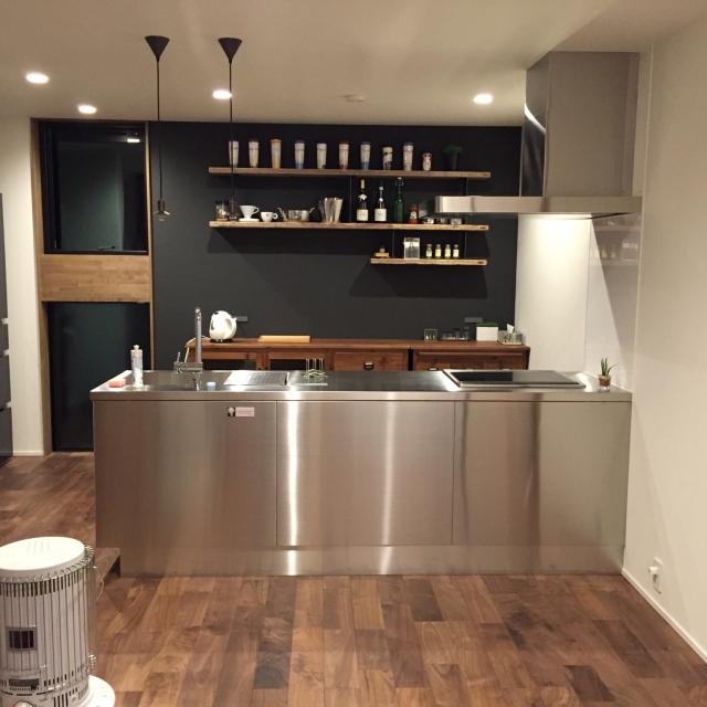 大人に似合う空間に☆クールなカフェ風キッチンの作り方