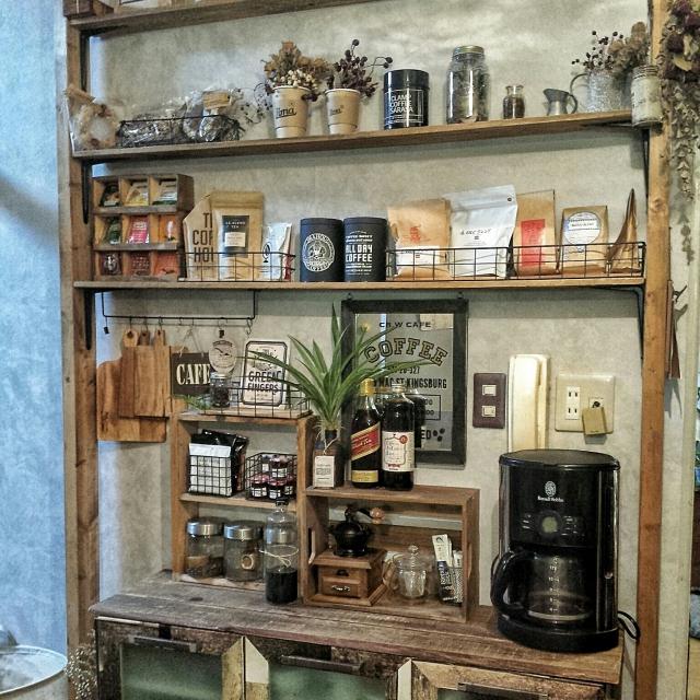 100均アイテムで作る癒しのカフェ風キッチン | RoomClip mag | 暮らしとインテリアのwebマガジン