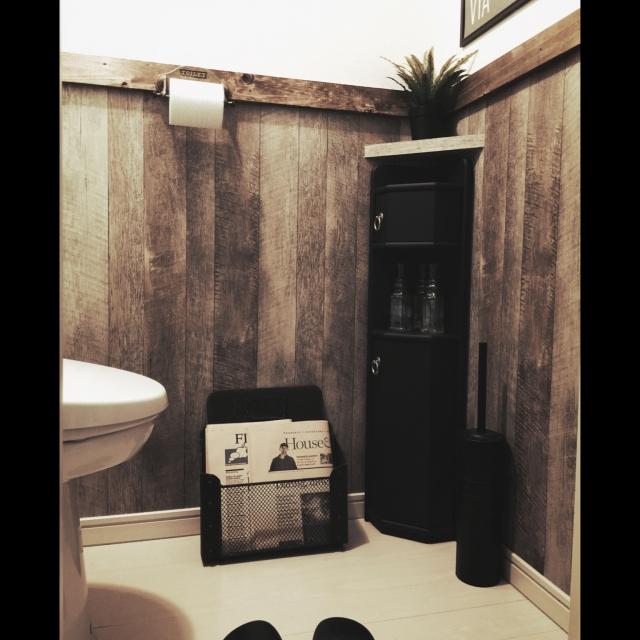 おしゃれ新聞で自分に惚れるトイレ