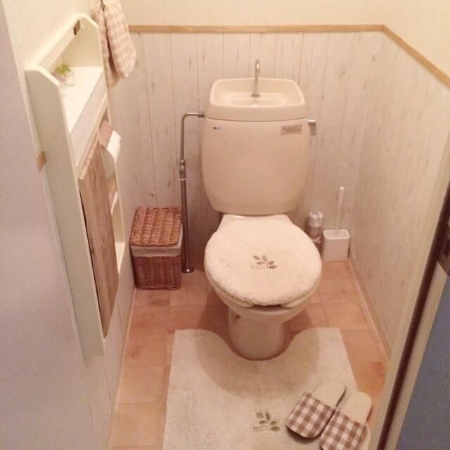 トイレをロマンチックに変えるDIY