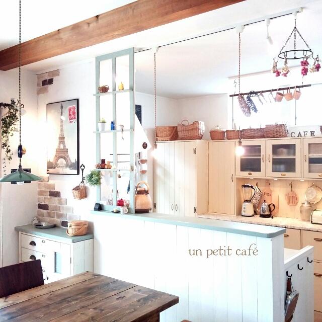 キッチンカウンターをDIYして、家事を楽しく♡ | RoomClip mag | 暮らしとインテリアのwebマガジン
