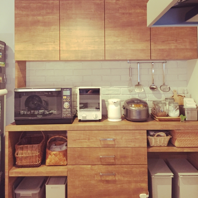 「ライフスタイルにフィットした、温もりが溢れる場所」憧れのキッチン vol.99 ponponさん | RoomClip mag | 暮らしとインテリアのwebマガジン