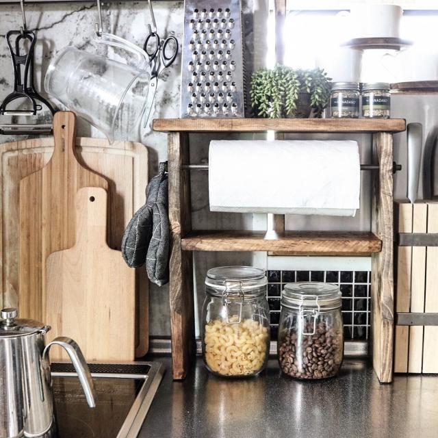 もっと便利に!キッチンペーパーホルダーのDIY見本帳 | RoomClip mag | 暮らしとインテリアのwebマガジン