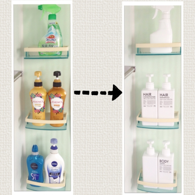 無印良品とニトリでお風呂ホワイト化計画! | RoomClip mag | 暮らしとインテリアのwebマガジン