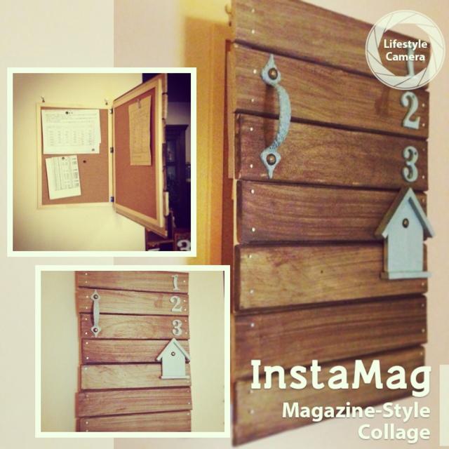 100均DIYで、掲示プリントやインターフォンを隠す方法 | RoomClip mag | 暮らしとインテリアのwebマガジン