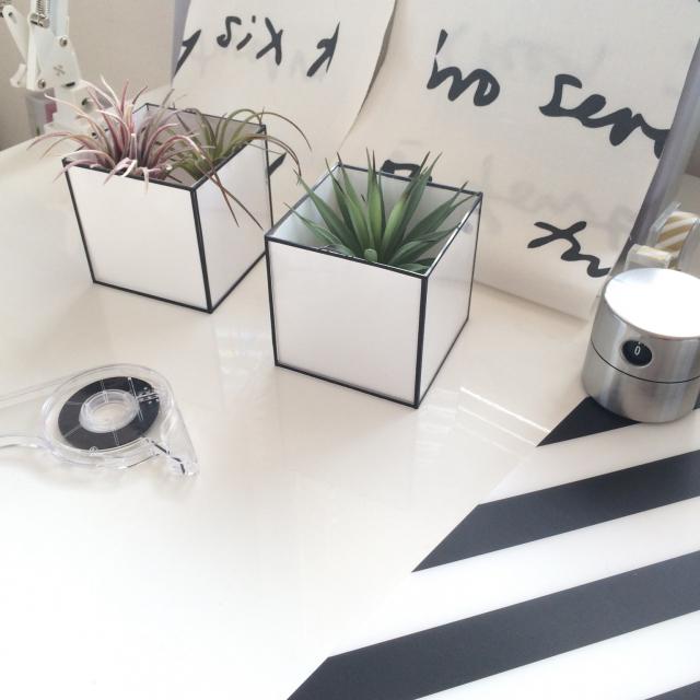 「模造紙とハサミでOK!ディスプレイが楽しいモダンキューブ」 by imachanさん | RoomClip mag
