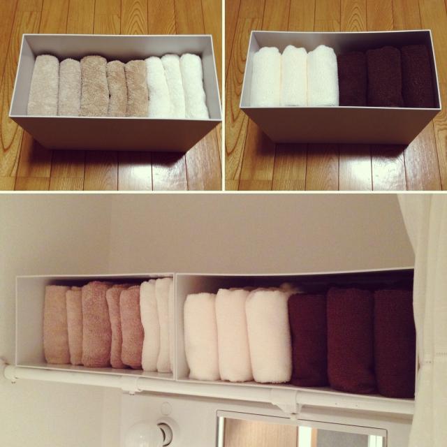 簡単スッキリ!バスルーム収納にはファイルボックス! | RoomClip mag | 暮らしとインテリアのwebマガジン