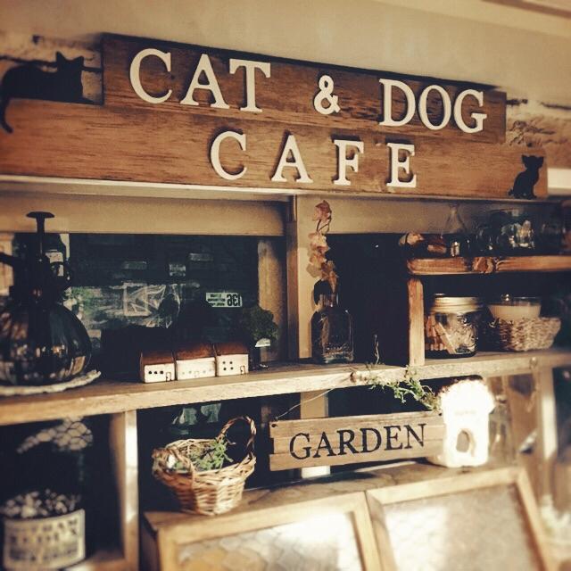 イニシャルオブジェで「CAFE」