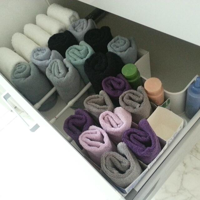 どれをマネする?美しく使いやすいタオルの置き方集 | RoomClip mag | 暮らしとインテリアのwebマガジン