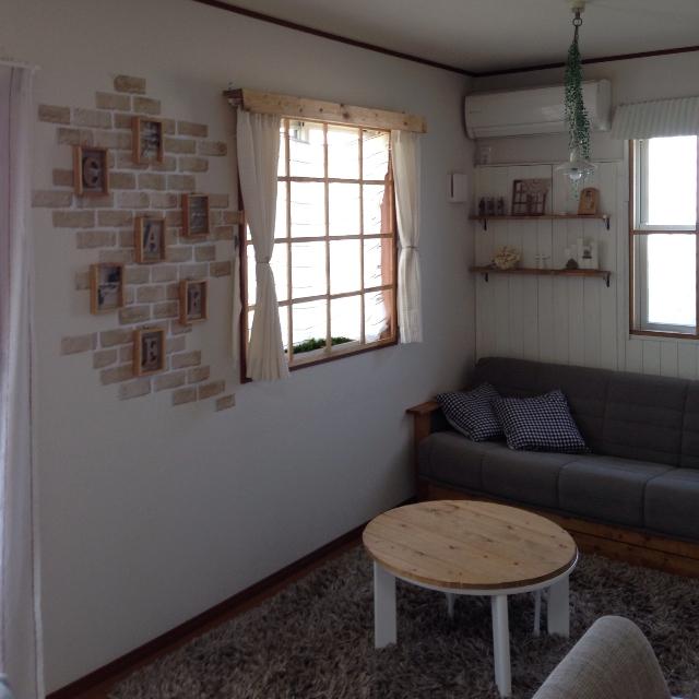 カーテンボックス、窓枠のコンビネーション