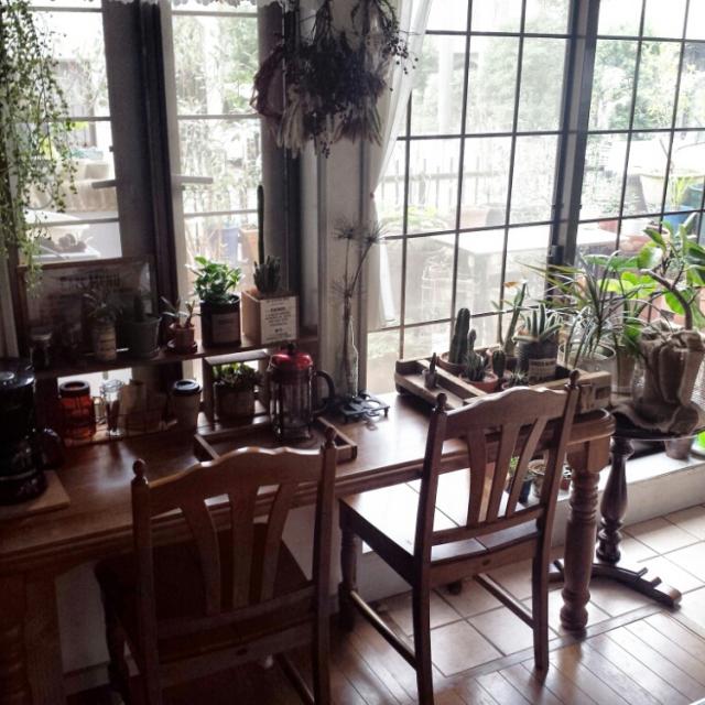 お庭と室内グリーンの両方を堪能