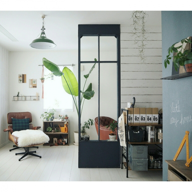 1枚でお部屋の印象ガラリ!間仕切りを上手に使うコツ | RoomClip mag | 暮らしとインテリアのwebマガジン