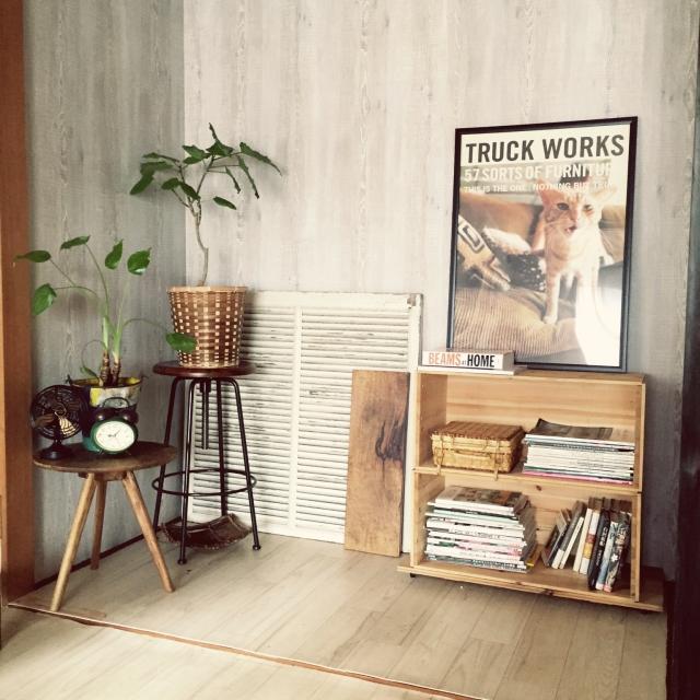 床の間を壁紙DIYでリメイク