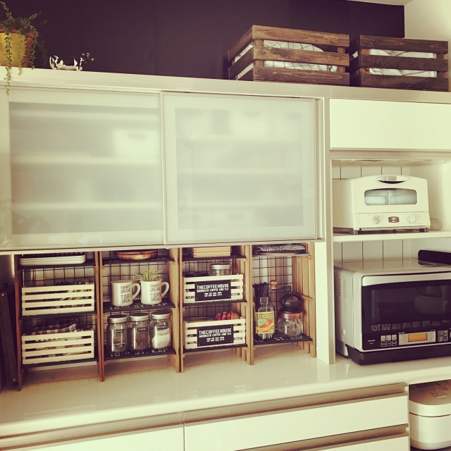 快適キッチンはDIYで実現する~キッチンラック~ | RoomClip mag | 暮らしとインテリアのwebマガジン