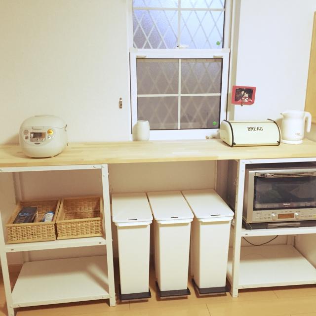 キッチンで使うゴミ箱と置き方、浮かない&目立たない方法 | RoomClip mag | 暮らしとインテリアのwebマガジン