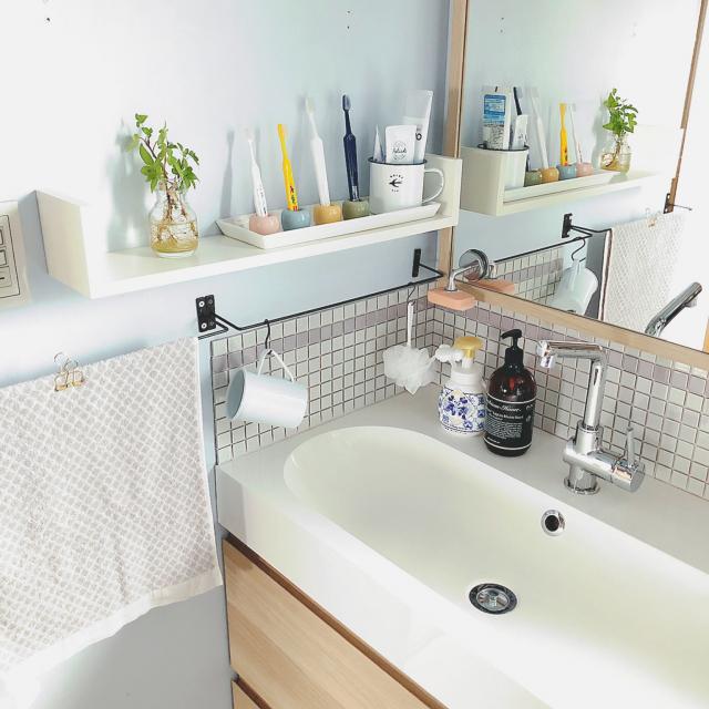 サッパリ清潔感を出したい!無印良品の洗面所アイテム
