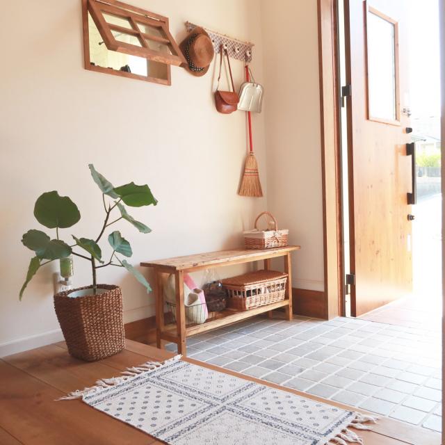 少しの工夫でお気に入りの空間に♡ホッとして癒される玄関の作り方