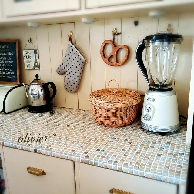 玄関、キッチン、バスルームのタイルDIY実例紹介☆ | RoomClip mag | 暮らしとインテリアのwebマガジン