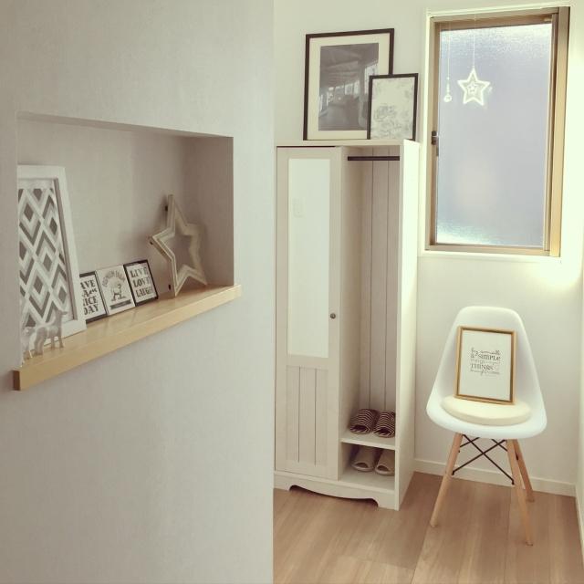 まさかの組み合わせ!?椅子のある玄関は魅力いっぱい | RoomClip mag