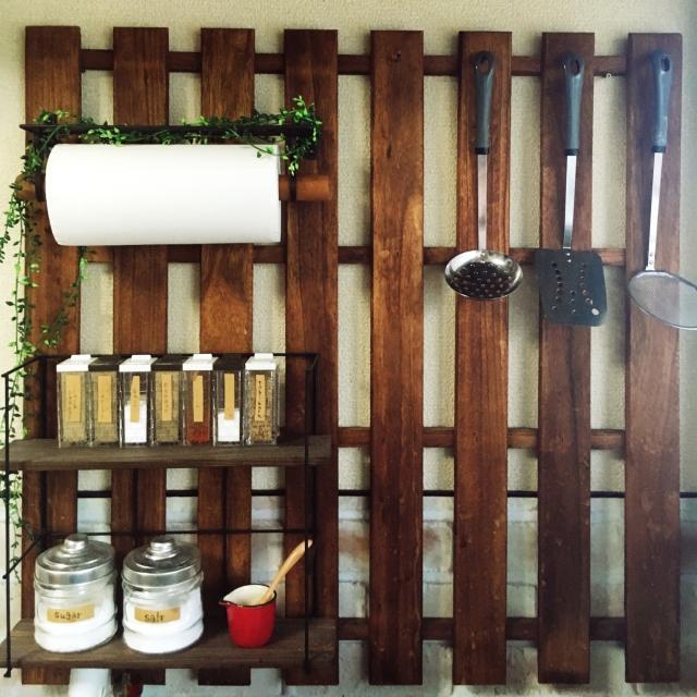 すのこで、キッチンにこんなのが欲しい!アイテムをDIY | RoomClip mag | 暮らしとインテリアのwebマガジン