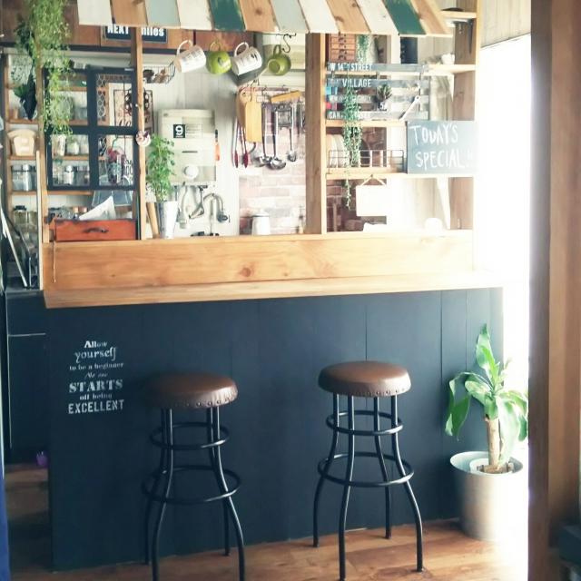 憧れのキッチンカウンター♪カラーボックスのDIYアイデア | RoomClip mag | 暮らしとインテリアのwebマガジン