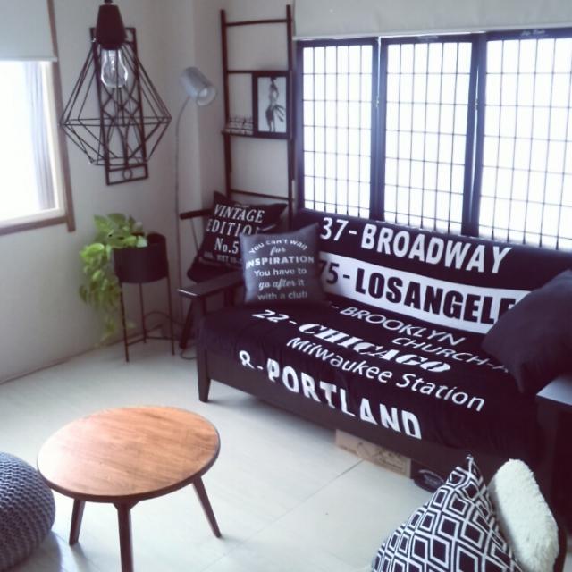 しまむらが活躍♪ ソファの模様替えでお部屋をリフレッシュ | RoomClip mag | 暮らしとインテリアのwebマガジン