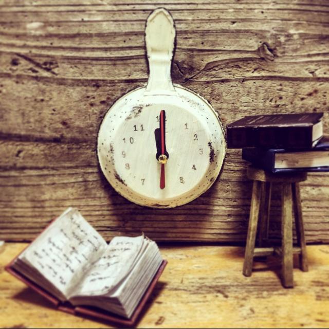 ミニフライパン時計