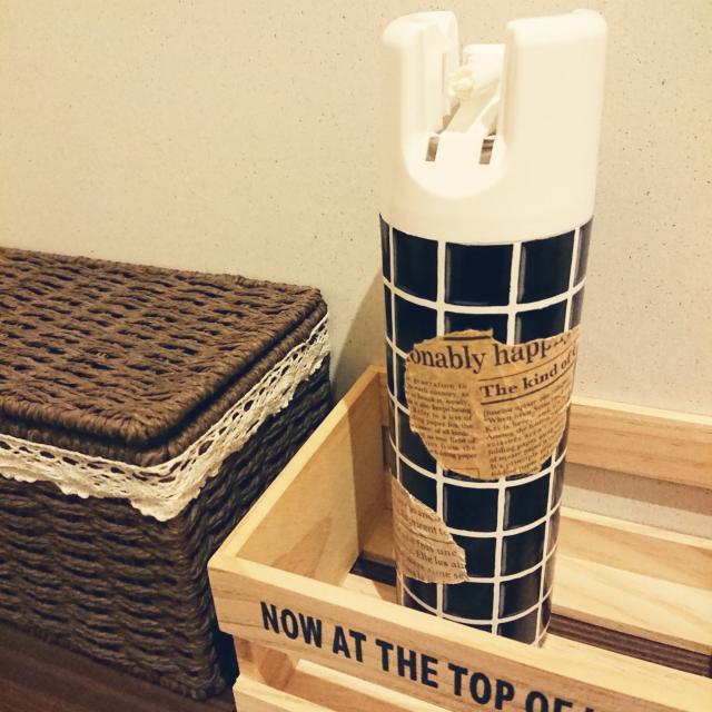 「見た目も匂いもスッキリ♪『貼るだけ』スプレー缶リメイク」 by niconicoさん | RoomClip mag