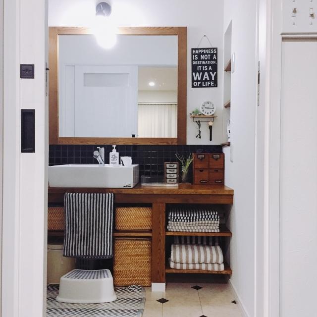 憧れのすっきり洗面所で大活躍!ニトリ・無印良品♡ | RoomClip mag | 暮らしとインテリアのwebマガジン