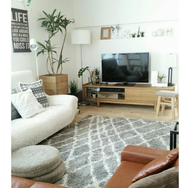 空間を一新!ニトリのラグを手に入れて、楽しく模様替え | RoomClip mag