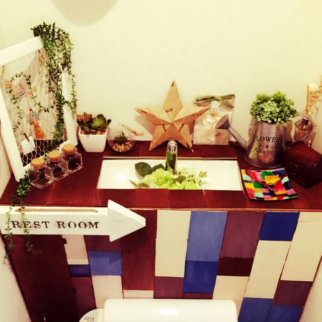 ひと工夫でトイレをキュートに♡10のデコレーション例 | RoomClip mag | 暮らしとインテリアのwebマガジン