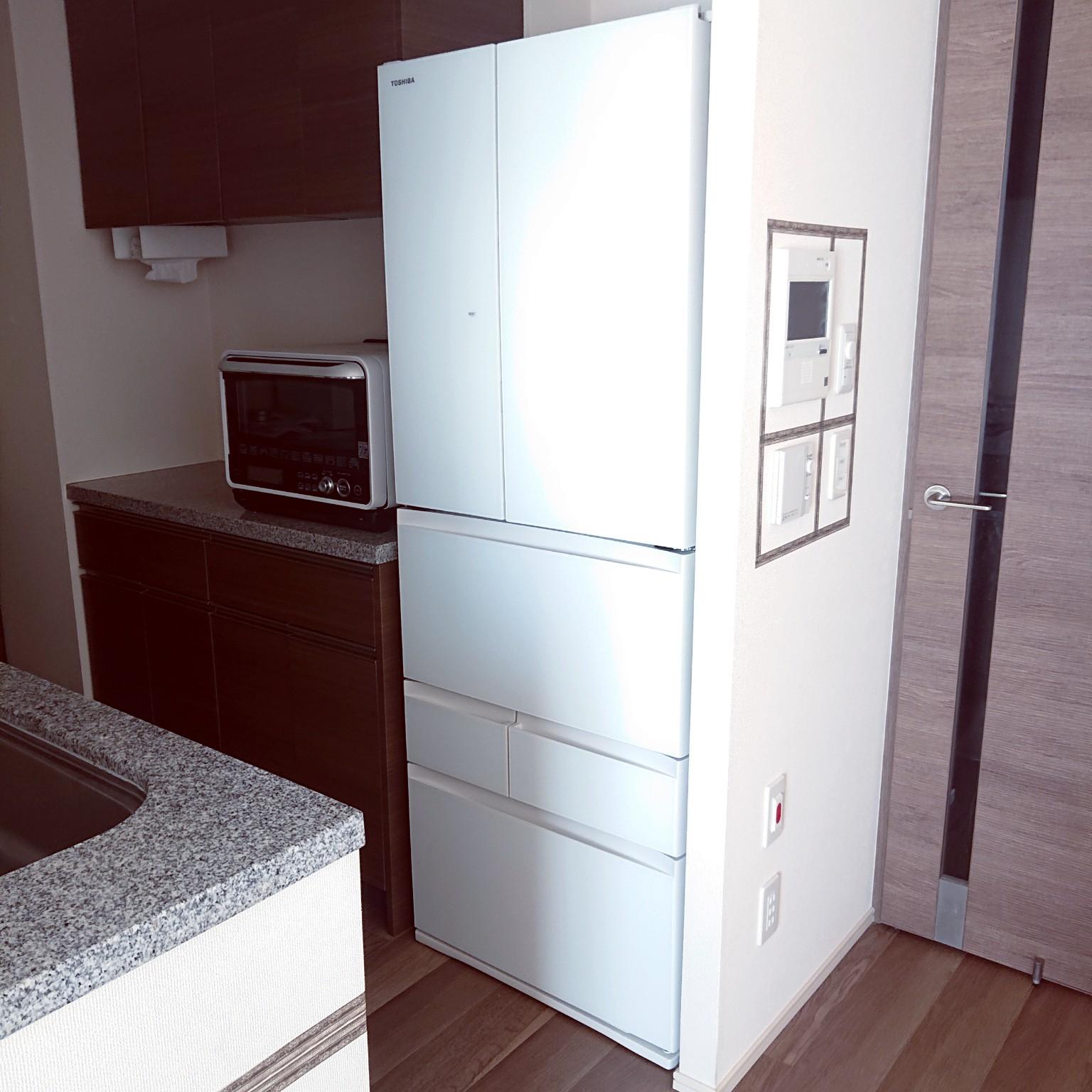 キッチン/2021.0306/冷蔵庫購入/TOSHIBA冷蔵庫/VEGETA...などのインテリア実例 - 2021-03-06 21:45:49