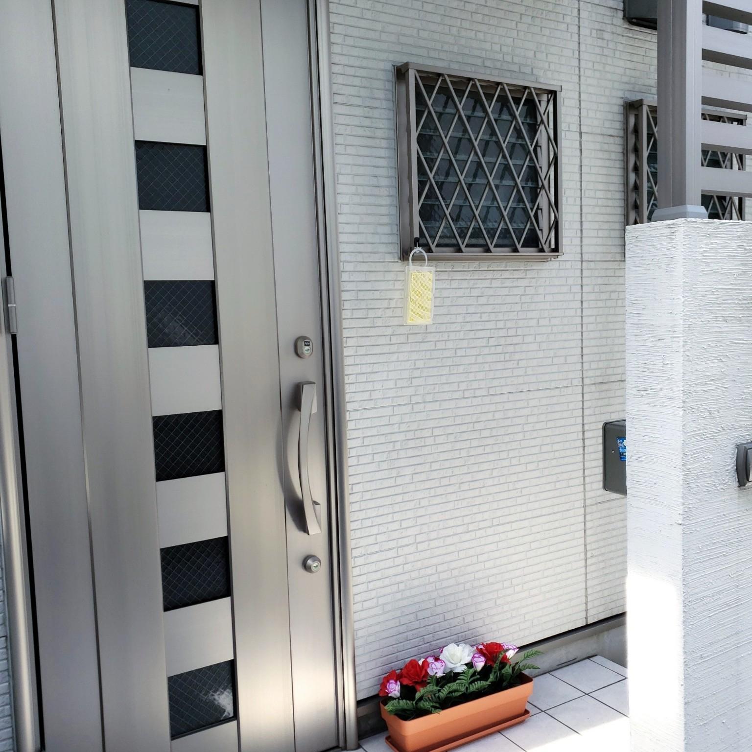 玄関/入り口/コマンドフック/虫コナーズ/虫対策/屋外用フック...などのインテリア実例 - 2021-04-23 08:37:38