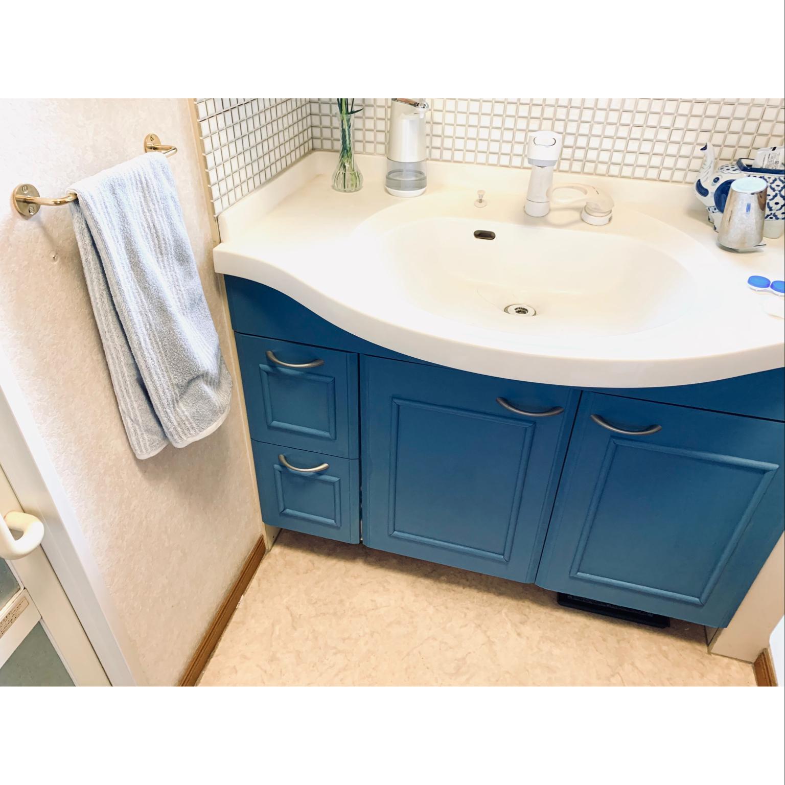 DIY/北欧/洗面所DIY/パリジャンブルー/バス/トイレのインテリア実例 - 2021-04-22 21:29:22
