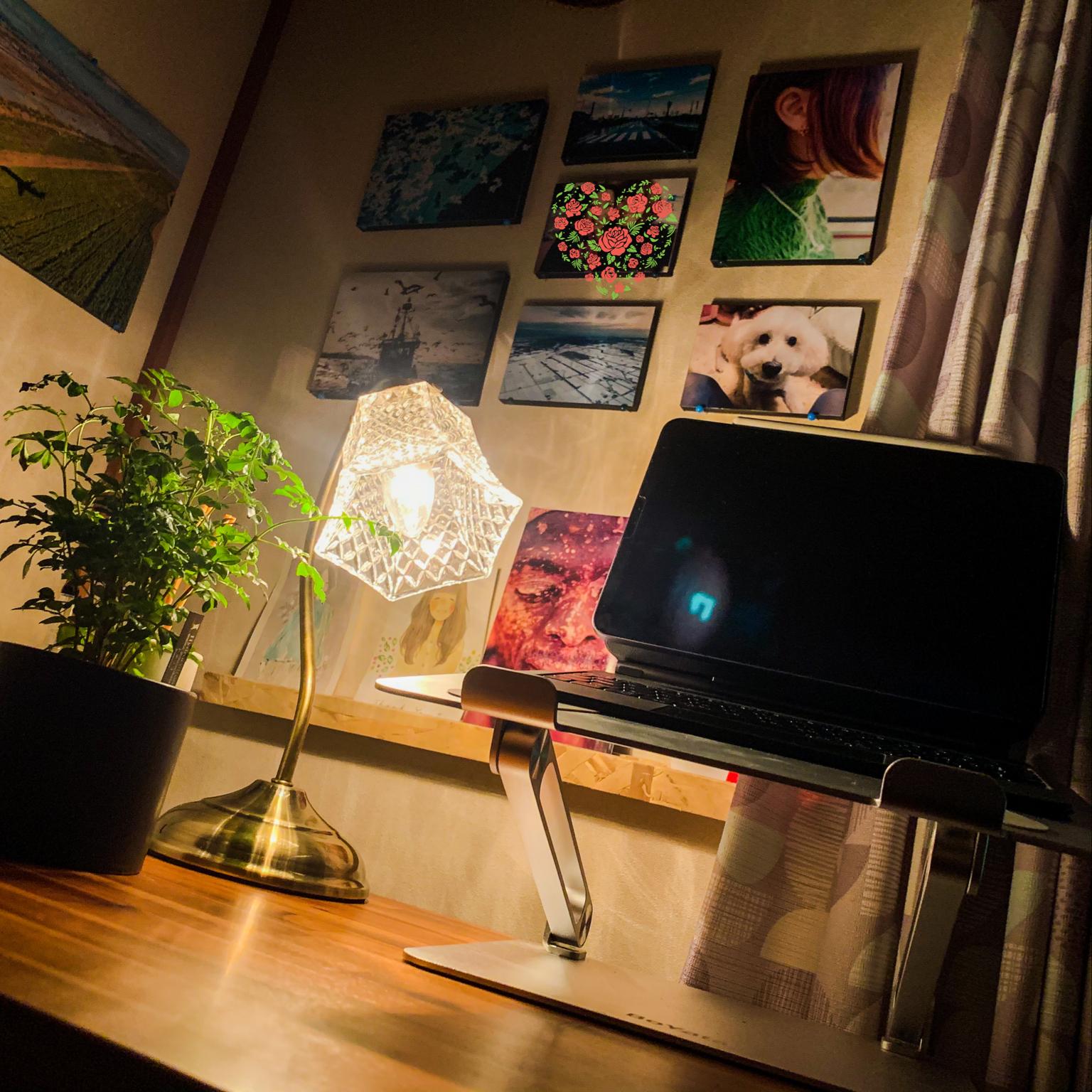 フォトパネル/写真 壁/照明のある暮らし/照明♡/iPadスタンド...などのインテリア実例 - 2021-04-21 20:43:05