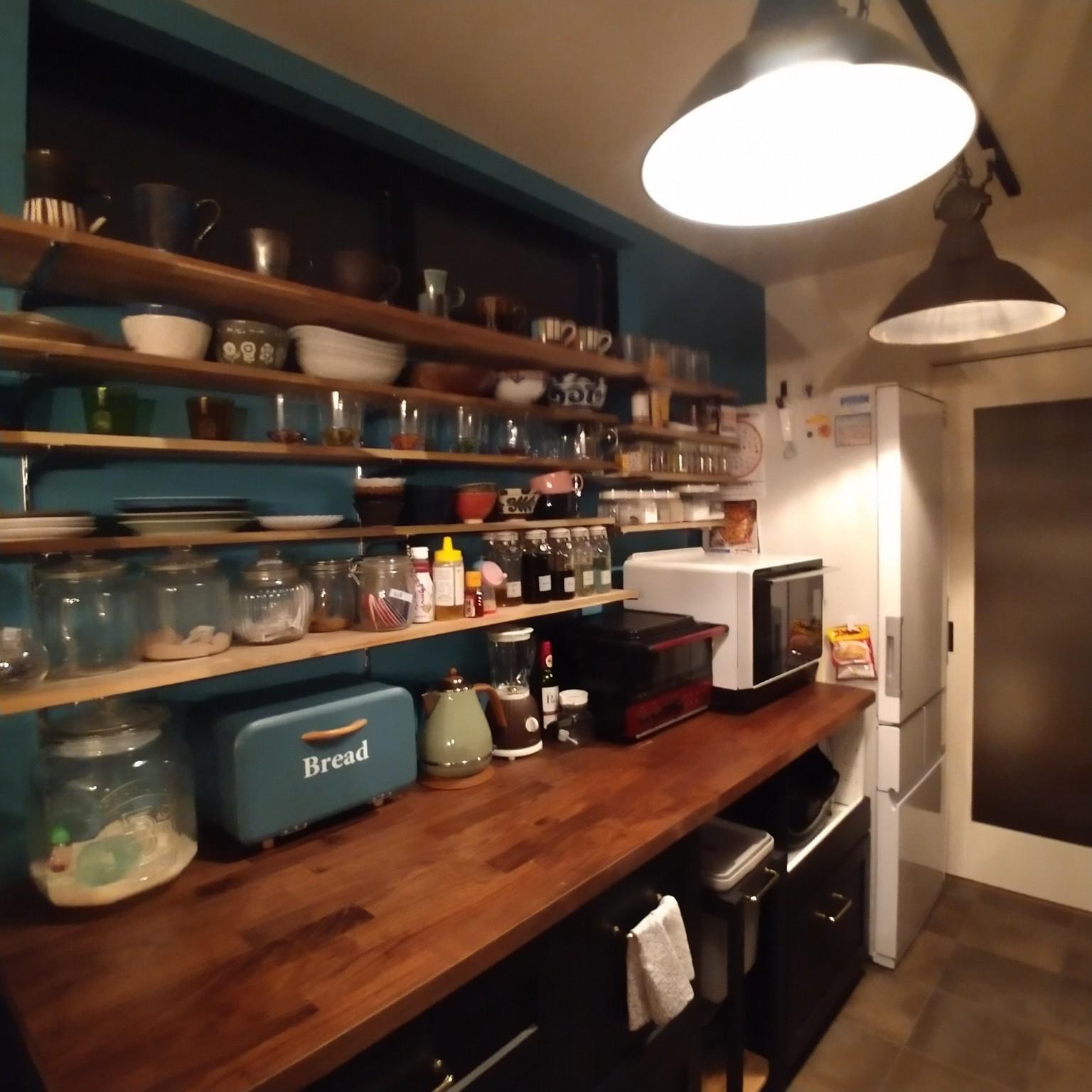 キッチン/カフェ風/DIY/DIY棚/雑貨...などのインテリア実例 - 2021-04-22 20:18:34