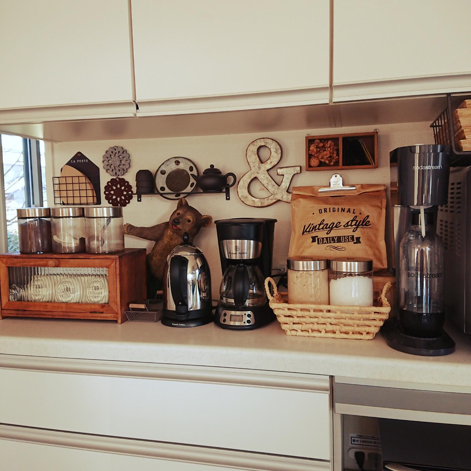 キッチン/soda stream/マファヴール/紅茶収納/ラッセルホブスケトル...などのインテリア実例 - 2021-03-03 12:17:57