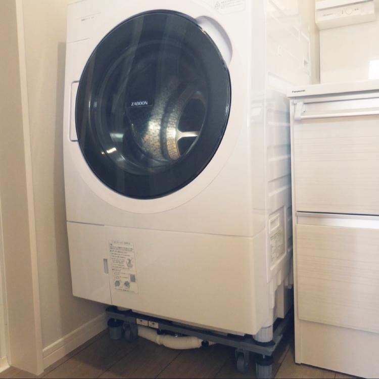 キャスター付き洗濯機置き台/掃除しやすい家/バス/トイレのインテリア実例 - 2021-04-21 22:33:31