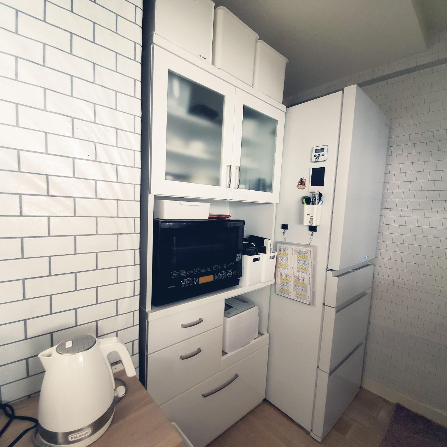 キッチン/キッチン/食器棚/白くしたい/シンプル...などのインテリア実例 - 2021-03-03 13:48:11