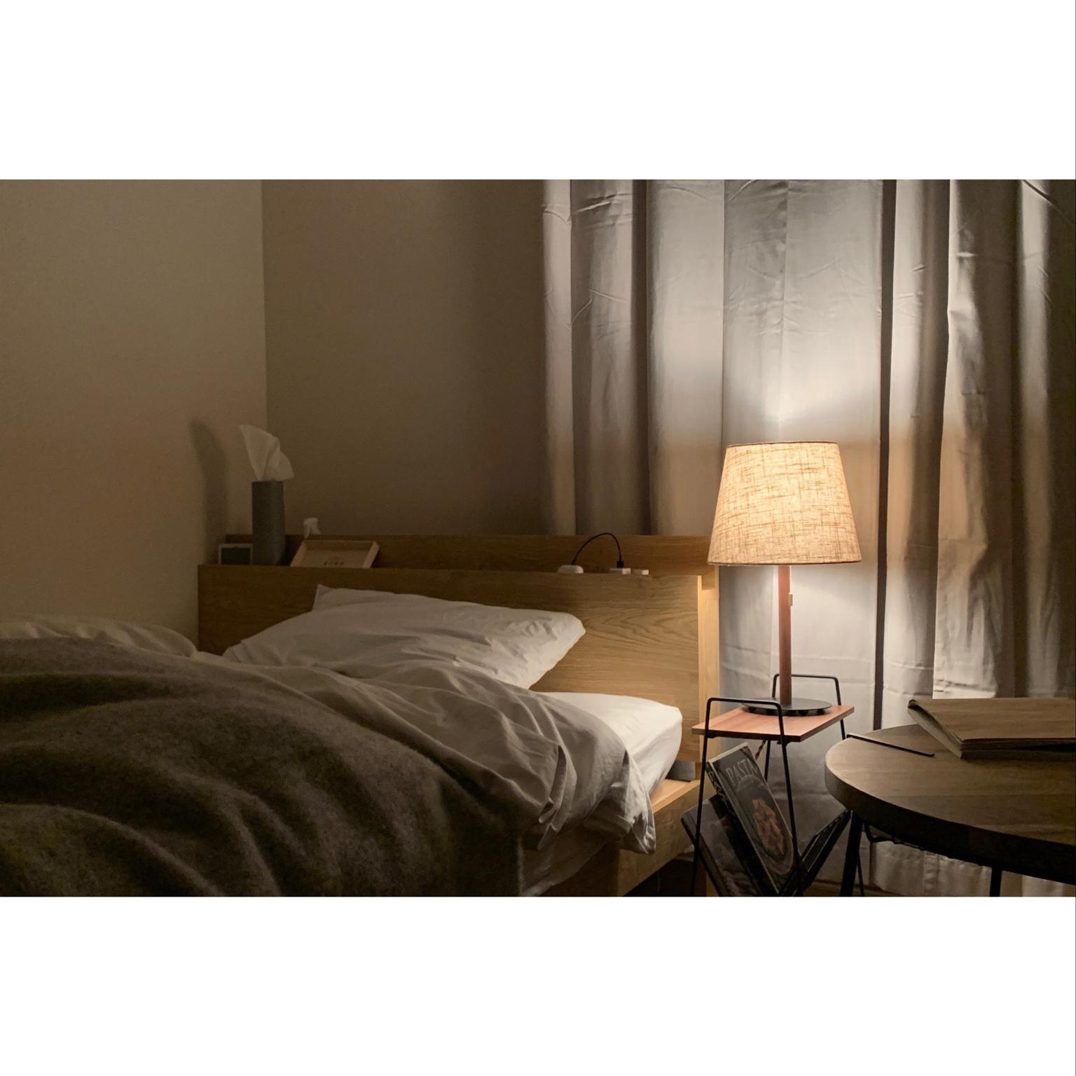 照明/ナチュラル/間接照明/ベッドルーム/一人暮らし...などのインテリア実例 - 2021-04-22 23:04:12