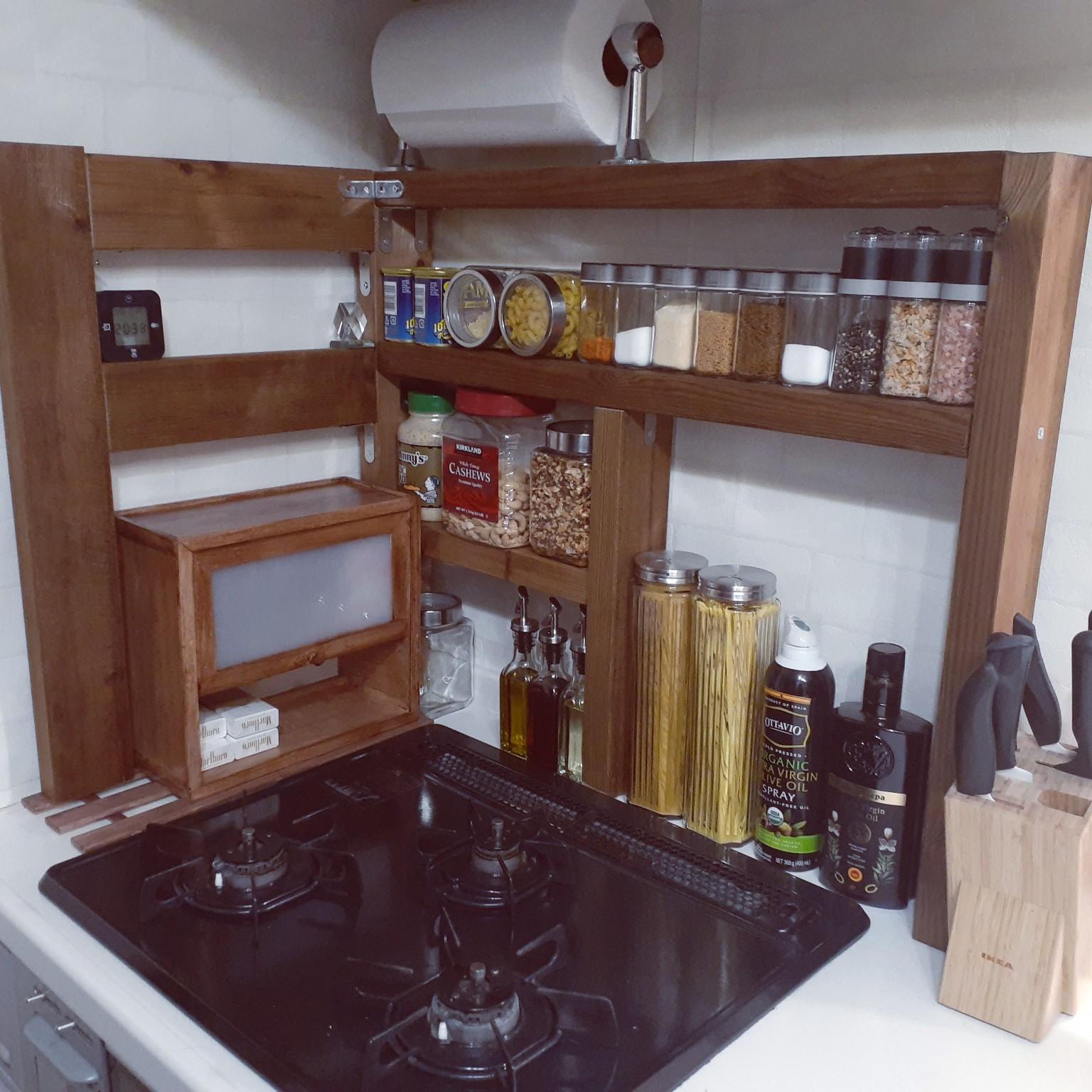 キッチン/DIY/棚DIY/スパイスラック/キッチンペーパーホルダー...などのインテリア実例 - 2021-04-22 20:37:30