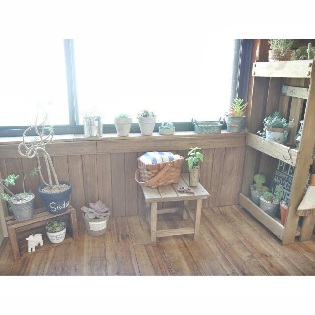 DIYとグリーンのインテリア〜dezさん③
