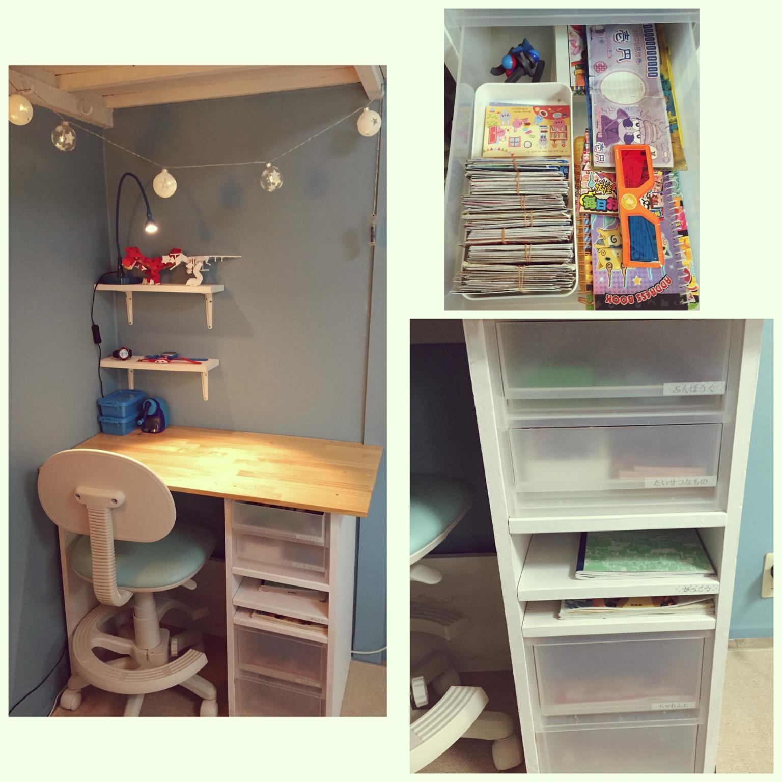 愛情たっぷり♡わが子仕様の学習机。収納力もばっちりです! by kusuttoさん