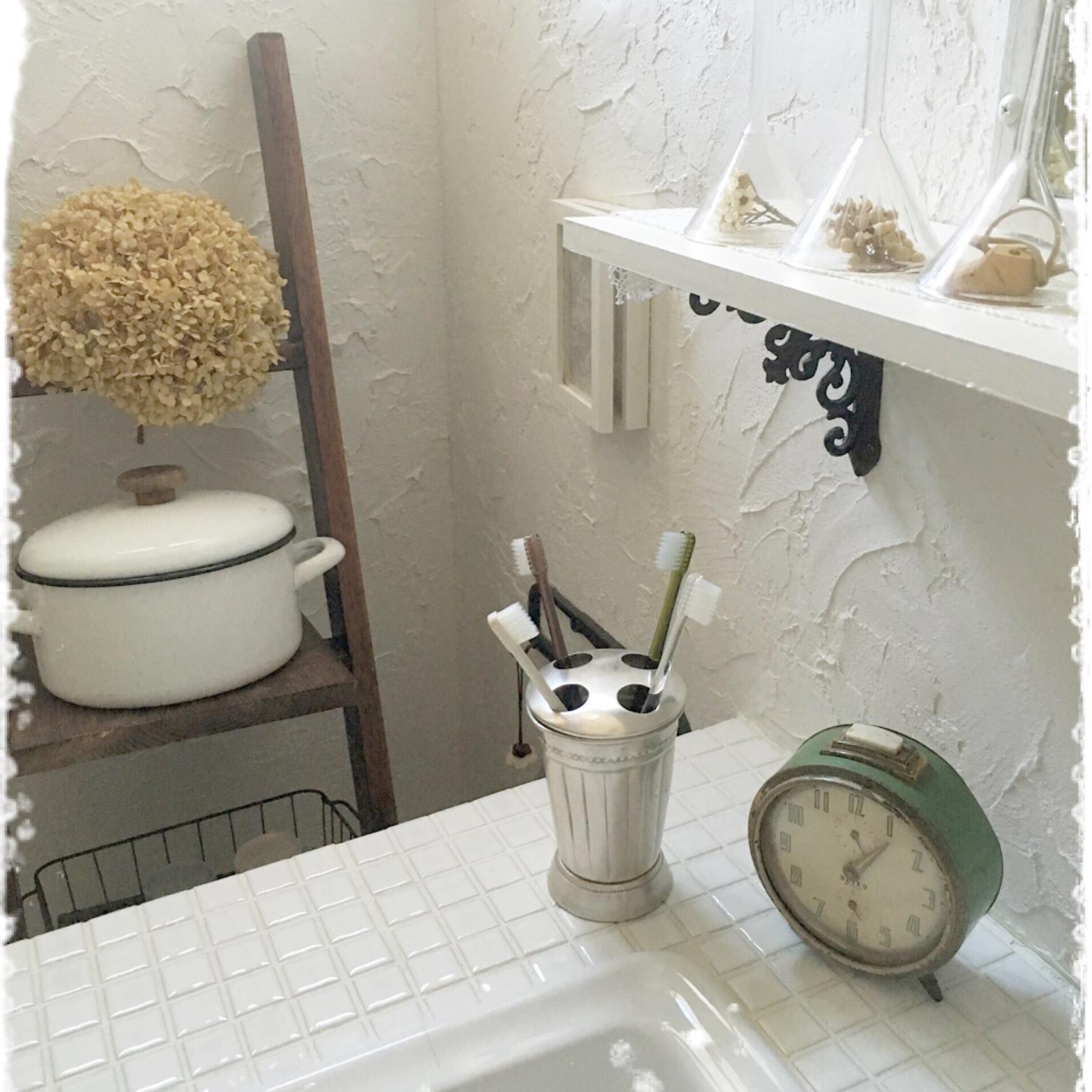 歯磨きタイムが楽しくなる♡魅せる歯ブラシ収納@洗面所