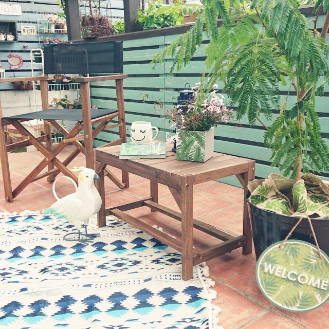 たったの3ステップ!ニトリのアイテムで、小さなベランダやお庭も素敵なくつろぎ空間に簡単チェンジ♪